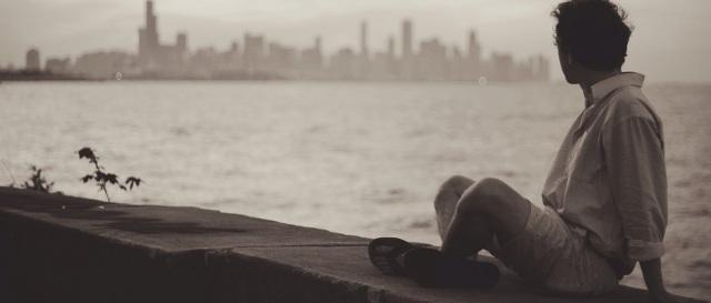 Homme solitaire amant pour être particulier